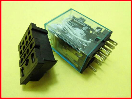 Free Shipping!!! 5pcs Intermediate relay MY4NJ / MY4NJ / AC220V / DC24V gilded /Electronic Component