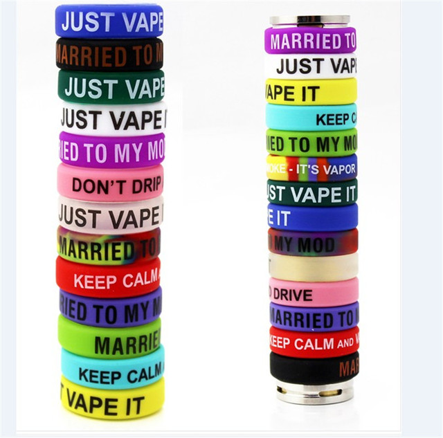 Anti-slip Ring Silicon Finger Ring Colorful Vape Band Covering Rubber Ring For Electronic Cigarette RDA  Mechanical Mod