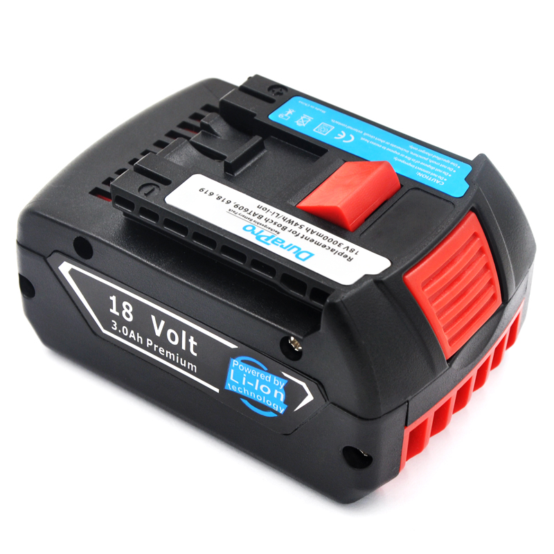 Подробнее о DuraPro For Bosch BAT618 18V for BAT609 BAT618G 2 bat607 336 169 GKS 18 VLI CCS180 FHN180 RHH180 17618 GSB18 Power Tool Battery bosch 280мм 1 618 600 023