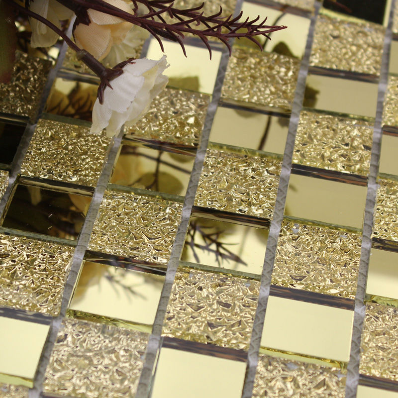 Crystal Glass Backsplash Kitchen Tile Mosaic Design Art Mirrored