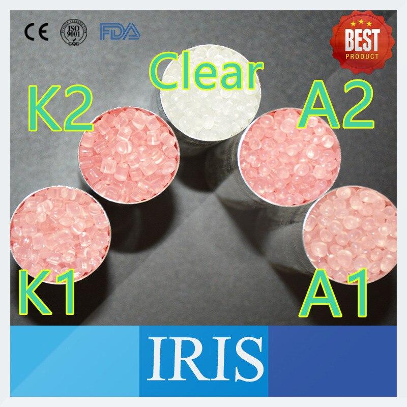 Top Sales 500G /lot K1 K2 A1 A2 Valplast Denture Flexible Acrylic Pink Particle for Partial Denture Resin Granules