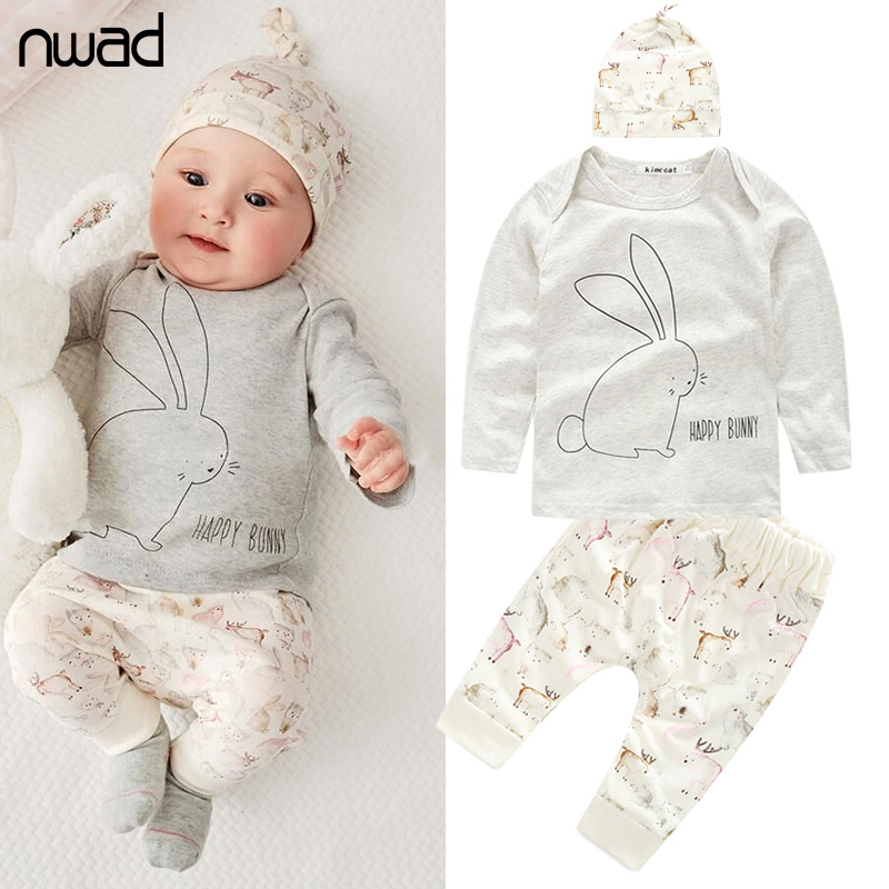new baby girl boy clothes toddler bunny clothing set for newborn baby