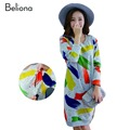 Graffiti Printed Nursing Clothes Slim Breastfeeding Dresses for Pregnant Women Spring Pregnancy Clothing Maternity Dresses