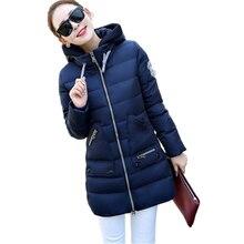 2017 New Winter Jacket Women Silm Down Coat Middle-Long Thicken Down Jacket Women Hooded Winter Parka Women Plus Size 6XL CM446