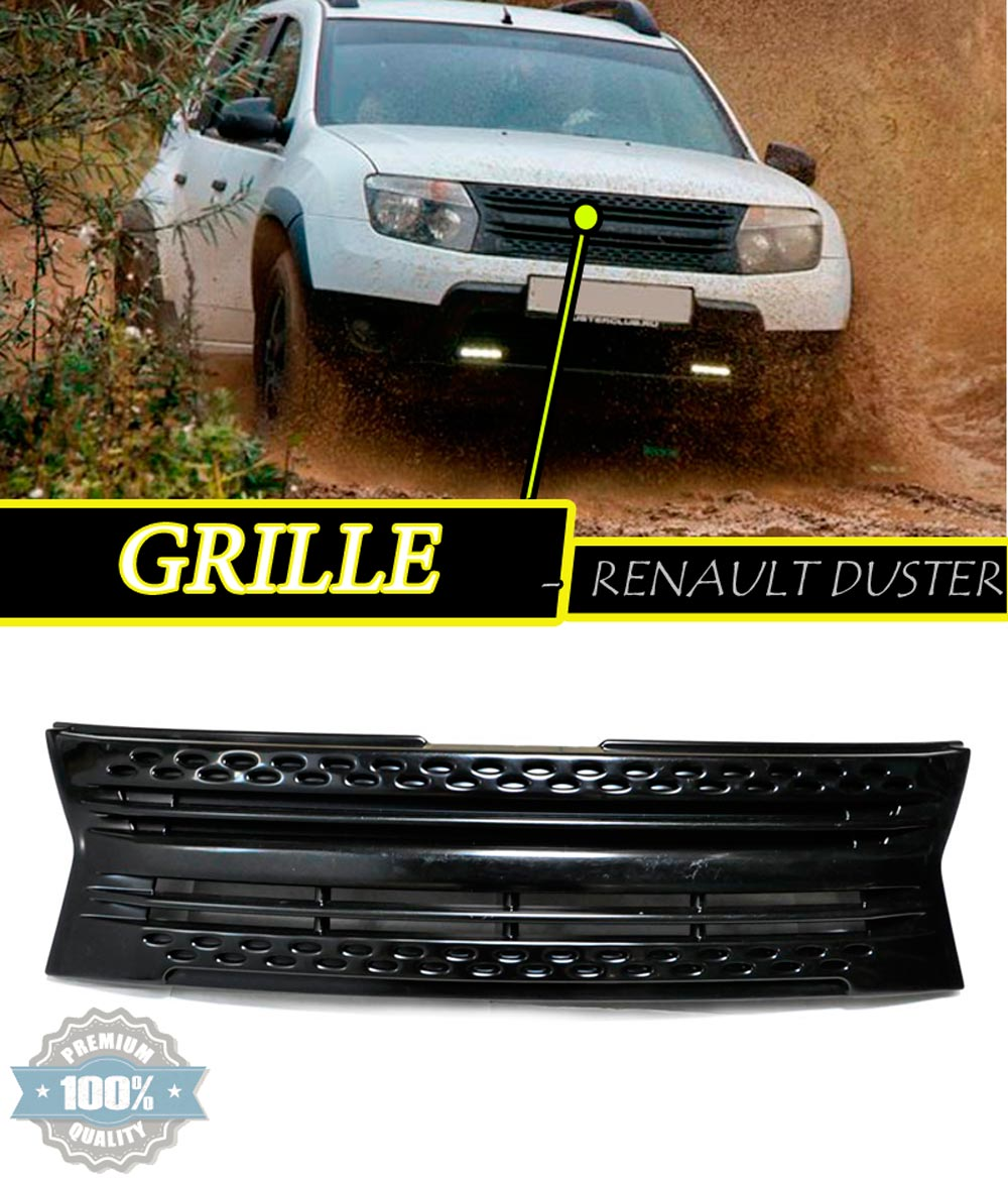 radiator grille for dacia renault duster 2010 2014 2015 2016 plastic abs car styling accessories. Black Bedroom Furniture Sets. Home Design Ideas