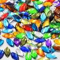 9*20mm Mix Color Rhinestones Flat Back Sew On Acrylic Horse Eye Gems Fancy Shape Strass Crystal Stones For Jewelry Dress Craft