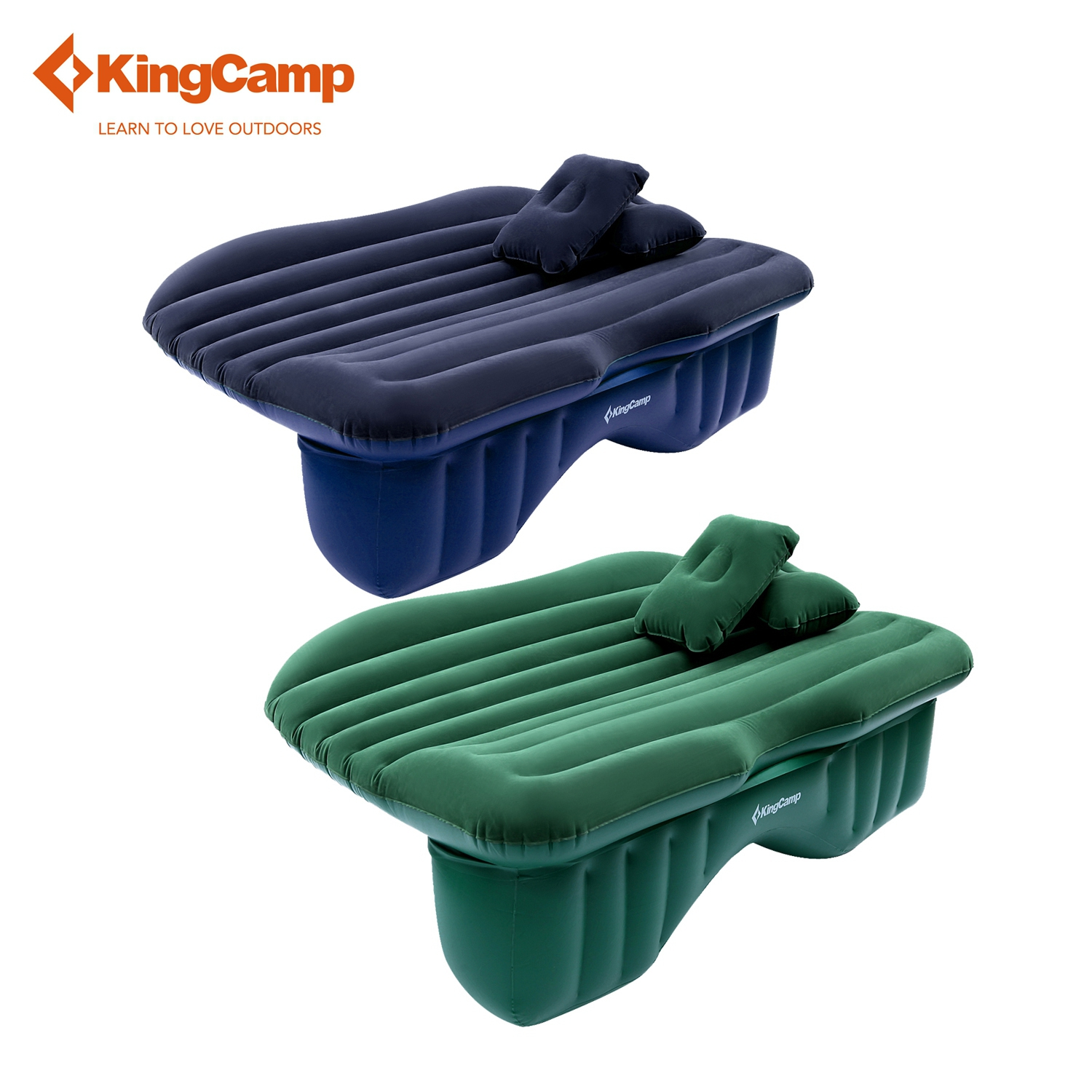 kingcamp portable outdoor car inflatable mattress flock backseat airbed mat with oxford sack for self - Air Bed Mattress