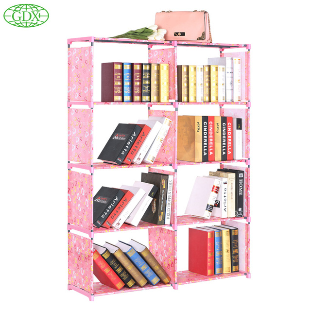 GDX 2pcs In 1 Lot Hot Multi  Function Bookshelf Non Woven Cabinets Foldable  Cabinets