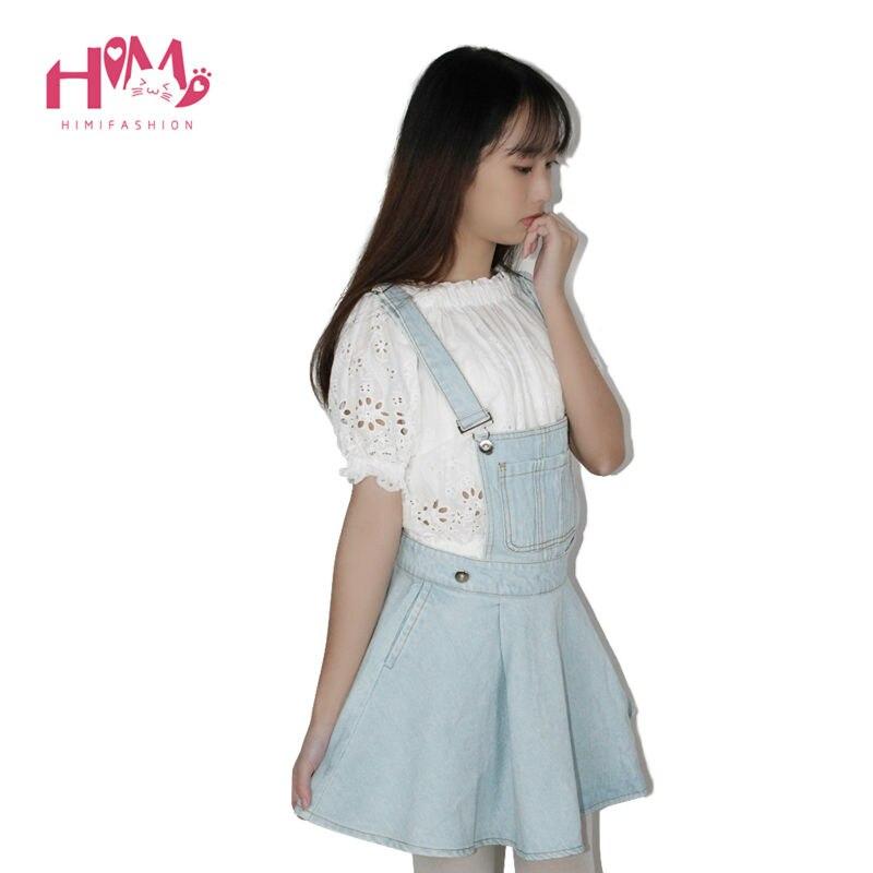 Vivi Japan Sstrap School Denim Dress For Ladies Dark Blue Removable Summer Detachable Student Overalls Dress Women Kawaii Cloth 3