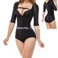 Mulheres controle da barriga corset com zipper edifício underwear bundas lifter e body shaper shapewear emagrecimento pernas da calça bodysuit e68