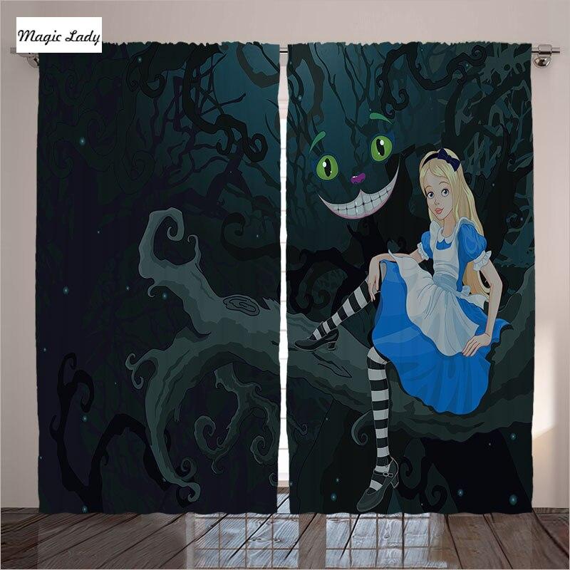 Rideaux La Nuit Alice Au Pays Des Merveilles Art Décor