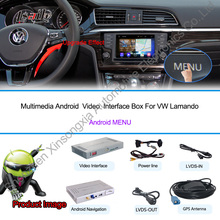 VW/PASSAT/Golf/Skod a/Seat With Wifi 3G Host Radio GPS Bt 1080P Ipod RDS Map android system Rear View