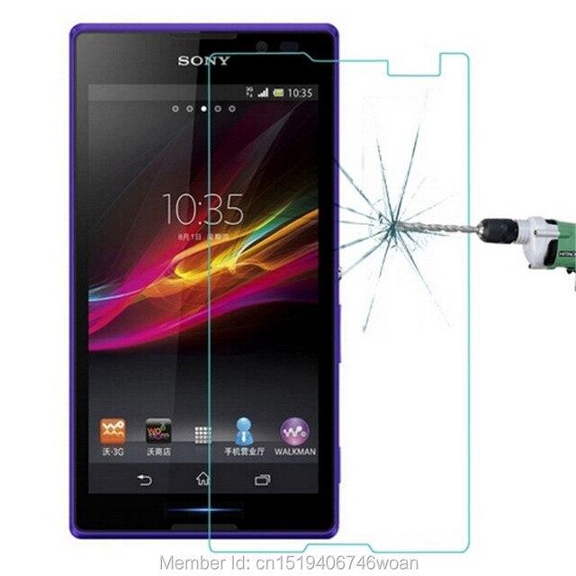 9 H закаленное Стекло Экран протектор для Sony Xperia C S39h 2305 c2304 C2305 S39 двойной защитный Плёнки гвардии Pelicula де vidro