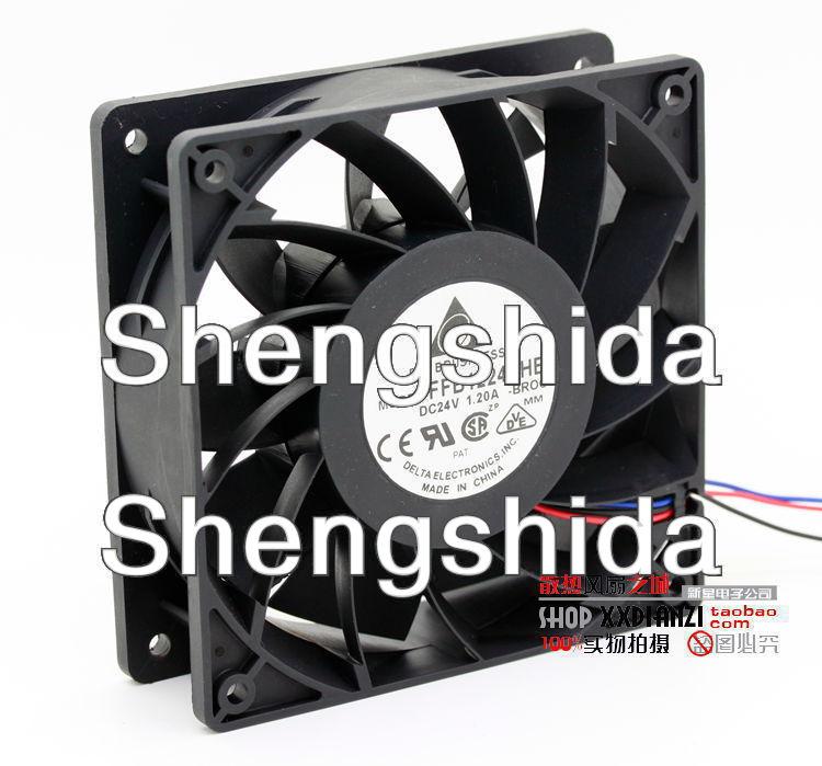 Для delta FFB1224SHE 12 см 120 мм 12038 120*120*38MM 24V 1.20A Вентилятор охлаждения