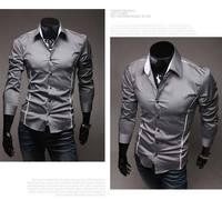 стиль дизайна мужские длинный рукав рубашки свободного покроя лепесток стиль платье рубашки азии с-XXXL осенняя c508
