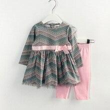 Automne fille vêtements nouveau – né des vêtements costume, Chemise à manches longues + pantalons 2 peça set vêtements enfants vêtements paon motif