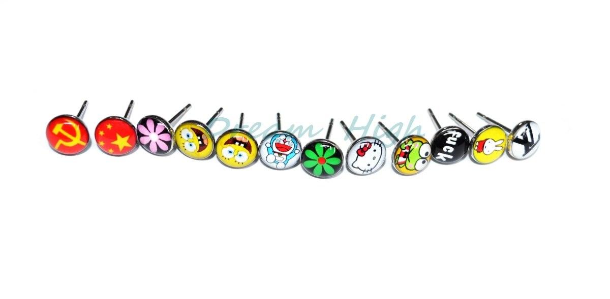 Модная серьга-гвоздик ушное кольцо 316L из нержавеющей стали можно настроить 300 пара/лот Высокое качество Акция подарок