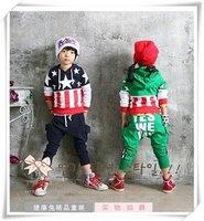 157 # розничная бесплатная отправка детская мода костюмы детская спортивная одежда 2 цвета 4 размеры