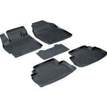 Для автомобиля Mazda CX7 2007-2013 езиновые коврики с высокими бортиками Seintex 01292