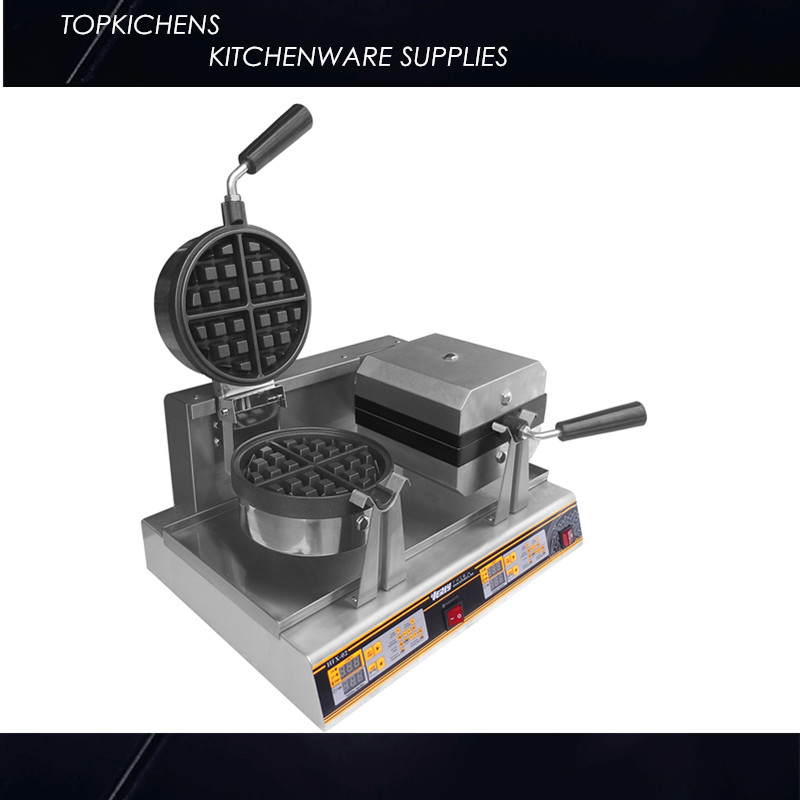 Rotary Round and Square Waffle Machine  HFX-11 Waffle Baker rotary round waffle baker waffle machine mfx 01 with mechanical control panel