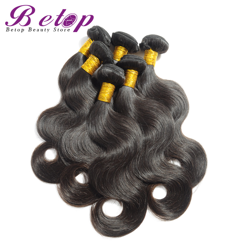 Grade 7A Brazilian body wave 3 bundles virgin brazilian hair weaves natural black 8 inch-32 inch - Betop Hair Beauty Store store