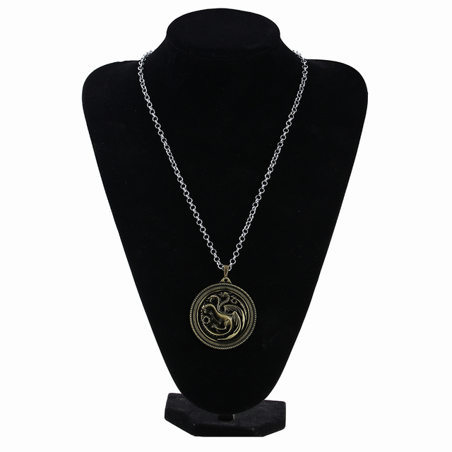 Game of Thrones Three-dragon Inspired Pendant Necklace Jewelry