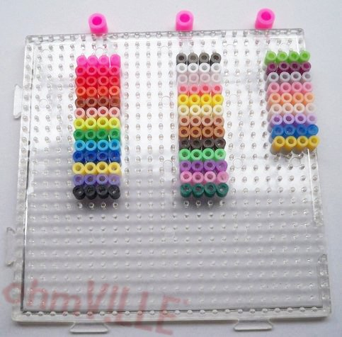 Hama Bead Alphabet Letters Numbers Set Peg Boards Pegboards Hama Beads