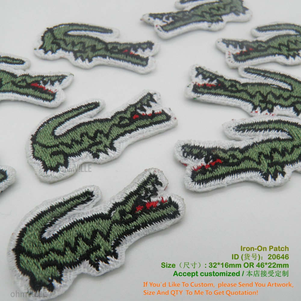 Parche bordado cocodrilo a tu estilo. Crocodile Embroidered Patch To Your Style