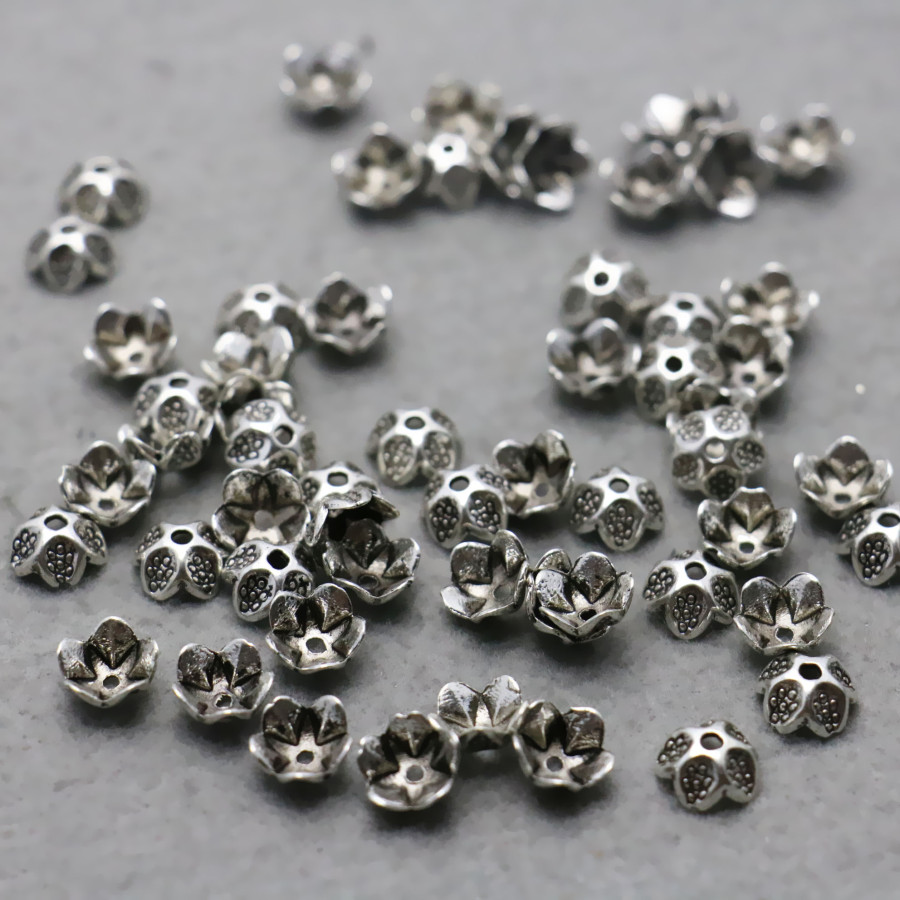 10PCS Fittings for Accessory components Findings separate beads Alloy Flowers for Necklace Bracelet Jewelry Making Design