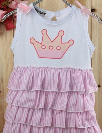6b3f41ddf HOT Sell Pink+ White Color Cute Layer Cake Girls Dresses Set 10 set ...