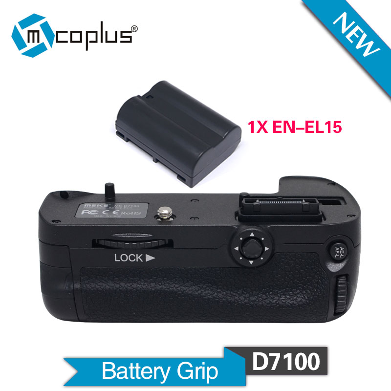Mcoplus BG-D7100 Vertical Battery Grip Holder + EN-EL15 Battery for Nikon DSLR D7100 D7200 Camera as MB-D15 Meike MK-D7100 майке mk d750 аккумулятор ручка пакета замены мб д16 как en el15 аккумулятор для nikon d750 камеры dslr