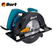 Пила циркулярная Bort BHK-185U (Диск 185 мм, регулировка угла и глубины пропила, высокая мощность)