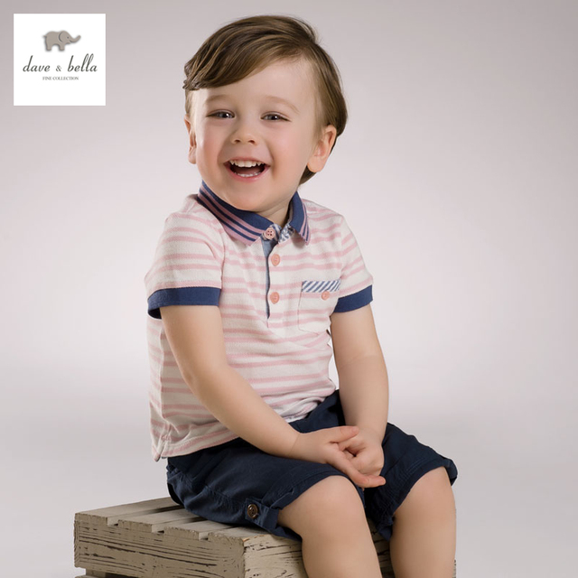3ca83a028 DB3780 dave bella summer baby boy 100 cotton t shirt infant clothes toddle  tees boys tops