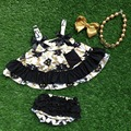 little girls boutique clothing sets infant toddler outfits baby aztec black and gold swing tops matchingaccessories