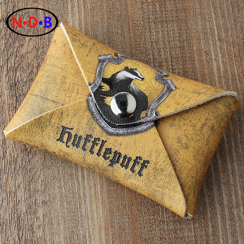 (Coin Purses) Europe and America New pattern coin purse Potter Harry Hufflepuff coin purse Student coin bag Card package