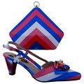 Африканский Стиль ПУ Женщина Обувь И Сумка Набор Мода Лето Случайные низкие Каблуки Обуви И Сумки Установить Бесплатная Доставка Размер 38-42 BCH-08