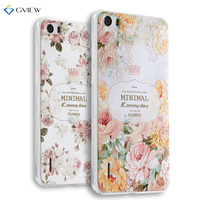 Super 3D Relief Printing Clear Soft TPU Case For Huawei Honor 6 Phone Back Cover Ultra