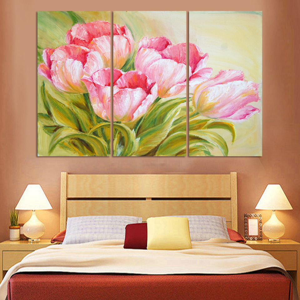 Luxry Hot Sell Modern oil Painting Tulip Flowers Home Wall Art ...
