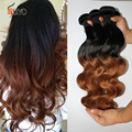 7A Ombre Hair Extensions Brazilian Body Wave Two Tone Color 100% Human Hair Weaves T1B/30 Unprocessed Brazilian Virgin Hair