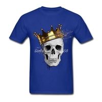 Latest Mens T Shirt Royal Skull Customized Graphic Tee Shirts Round Neck Short Sleeve Men T