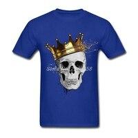 Latest Mens T Shirt Royal Skull Customized Graphic Tee Shirts Round Neck Short Sleeve Men T