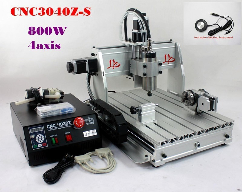 Russia free Shipping & no Tax! engraving machine jewelry,4 axis cnc router 3040 Z-S ,800w water cooled spindle on metal russia tax free cnc woodworking carving machine 4 axis cnc router 3040 z s with limit switch 1500w spindle for aluminum