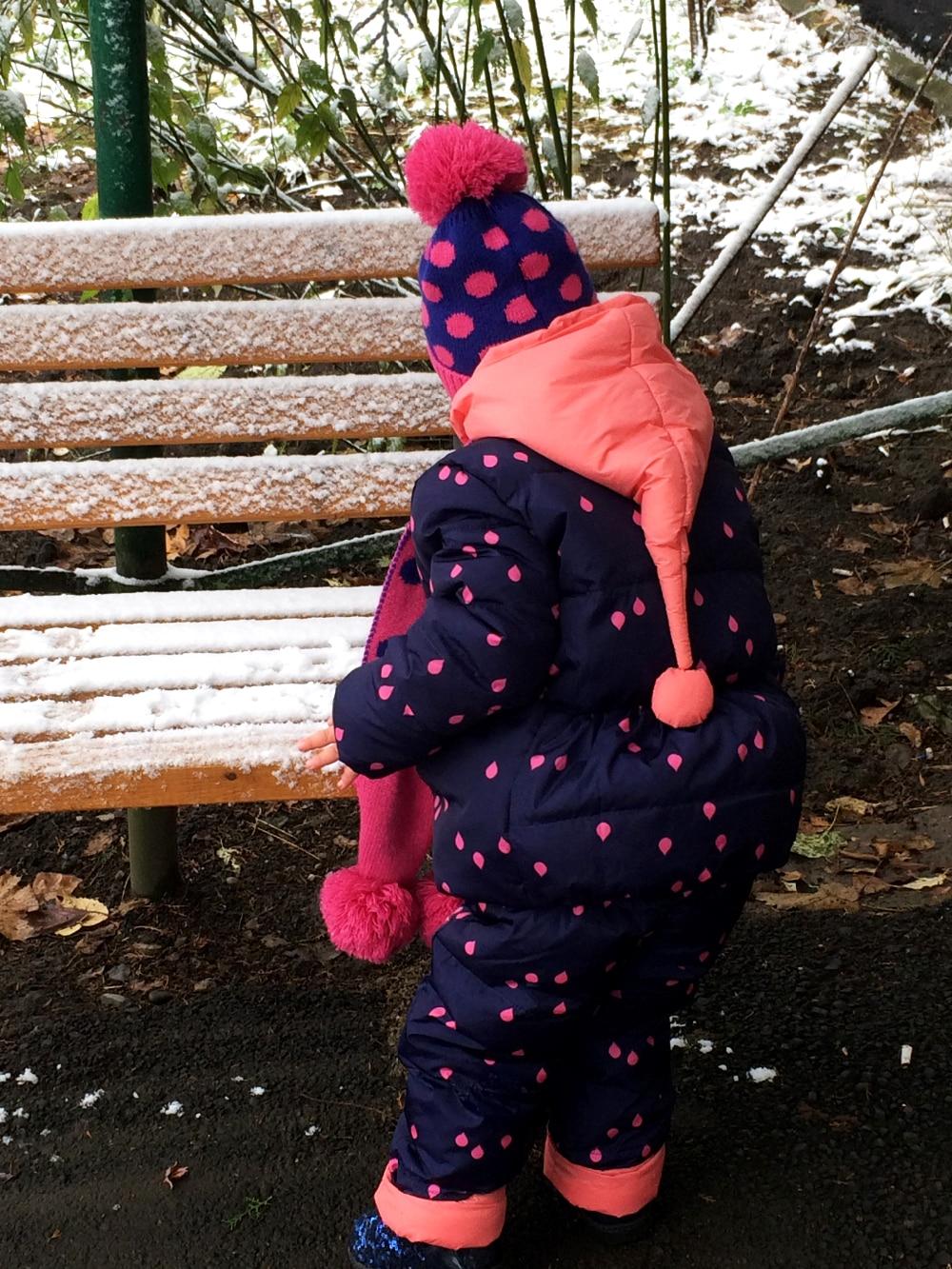 Теплый зимний костюм для девочки с Алиэкспресс