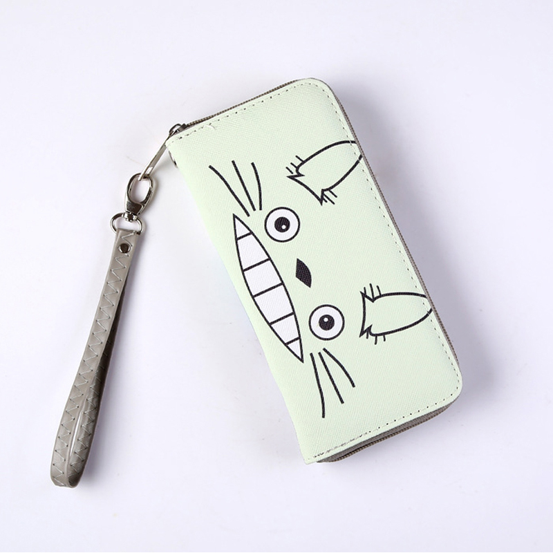Totoro Colorful Cool PU Wallet Of My Neighbor Totoro Card Holder Purse Zipper Design Coin Purse For Men Women Money Bag