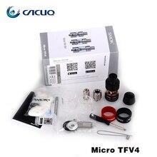 Original smok micro tfv4 kit atomizador 2.5 ml/3.5 ml/5.0 ml 510 hilo fit do-ohm núcleo y la rebuildable solo clapton núcleo