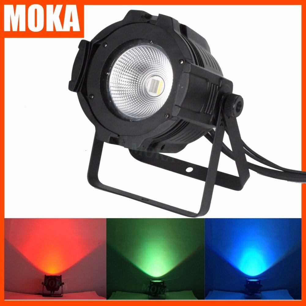 6 pcs/lot 100W dmx led cob par light 4in1 COB LED Par LED wash light stage DMX lighting for sale led lights for parties