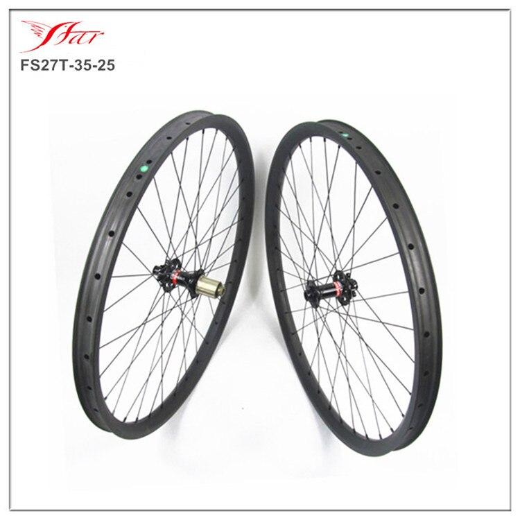 650B высокомодульный углерод фирмы Toray колесная покрышка 27,5 er углеродный велосипед колесная 35 мм для использования AM, ступицы Novatec D771/D772SB, 32 H