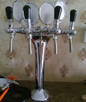 4 faucet beer tower with logo holder
