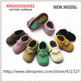 hard sole baby leather moccasin shoes 3 sizes in stock,rubber sole shoes for kids