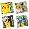 Japanese Anime Pocket Monster Wallet Colorful Printing Pikachu Eevee PU Short Purse